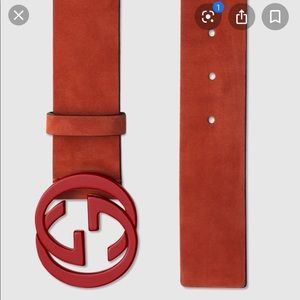 Red Gucci belt - Men